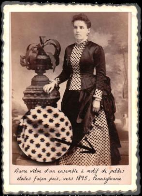femme-epoque-victorienne-veste-robe-a-pois-motif-etoiles-1895