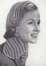 Vintage-Crochet-PATTERN-to-make-Headband-Hat-Ascot