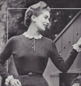 vintage-knitting-pattern-to-make-delicate-knit-blouse-crochet-lace-collar-cuffs-not-a-finished-item-this-is-a-pattern-and-or-instructions-to-make-the-item-only_1384929