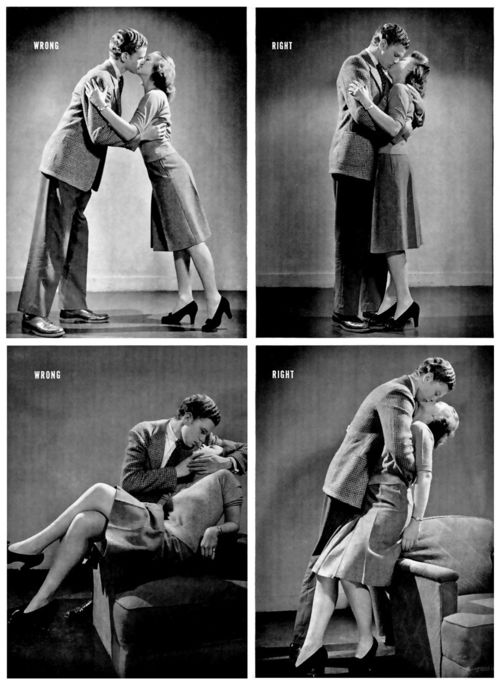 how to kiss propely Lige magazine 1942