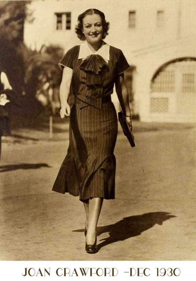 joan-crawford-The-new-1930s-silhouette-lower-skirt-hems