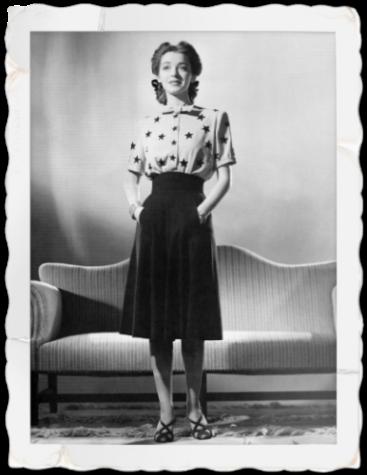 chemisier-etoiles-imprime-jupe-taille-haute-vintage-annees-40