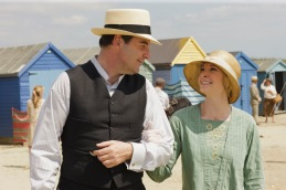 Part Eight Sunday, February 23, 2014 9 – 11pm ET on MASTERPIECE on PBS Lady Rose meets the Prince of Wales and faces a dilemma. Trouble also plagues Cora's mother and brother, Edith, and almost everyone else at Downton Abbey. Shown from left to right: Brendan Coyle as Mr. Bates and Joanne Froggatt as Anna Bates (C) Nick Briggs/Carnival Film & Television Limited 2013 for MASTERPIECE This image may be used only in the direct promotion of MASTERPIECE CLASSIC. No other rights are granted. All rights are reserved. Editorial use only. USE ON THIRD PARTY SITES SUCH AS FACEBOOK AND TWITTER IS NOT ALLOWED.